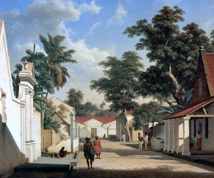Dutch street in the town of Makassar